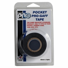 "ProTape Pocket Pro Gaff Tape 2"" x 6yds -  Black"