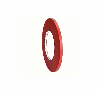 "Red Paper Tape 1/4"" x 60 yds Permacel 724"