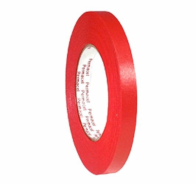 """Red Spike Tape Paper 1/2"""" X 60 yds 724 Permacel"""