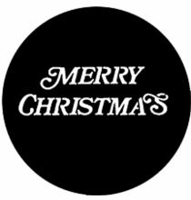 Rosco Merry Christmas Steel Gobo 77939