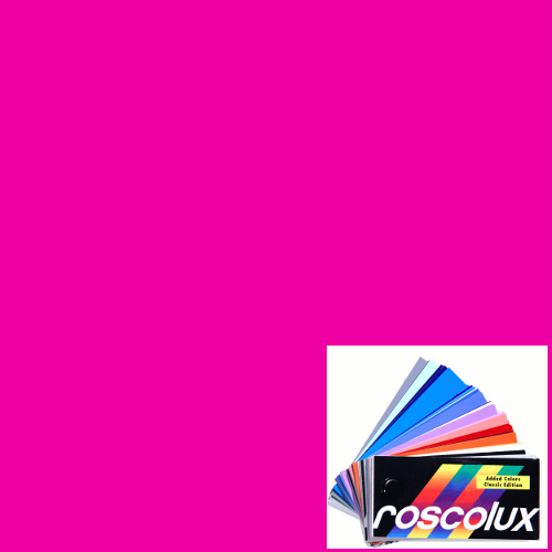 f464e3df6203 Rosco Roscolux # 343 Neon Pink Lighting Gel Filter Sheet