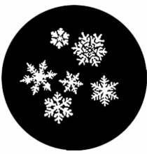 Rosco Snow Flakes Steel Gobo 77772