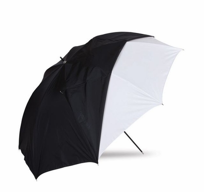 "Westcott 45"" Optical White Satin Umbrella with Removable Black Cover"