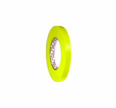 """Yellow Spike Paper Tape 1/2"""" x 60 yds Permacel 724"""
