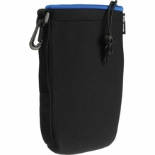 Zing Large Neoprene Pouch w/ Draw String, Black / Blue