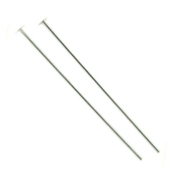 "1/10 Silver Filled Headpins  24 GA - 2"" - 2 inches (50 pieces)"