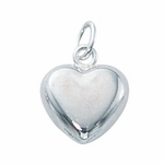 discontinued 1/10 Silver-Filled Large Puffed Heart Charm