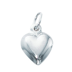 1/10 Silver-Filled Medium Puffed Heart Charm