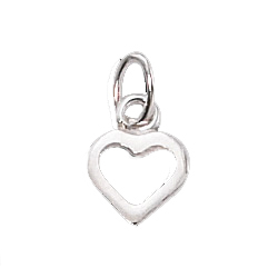 1/10 Silver-Filled Tiny Open Heart Charm