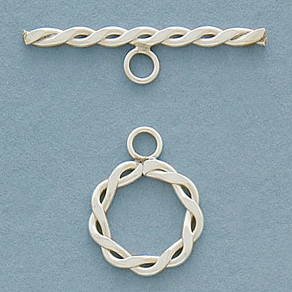 1/20 Silver-Filled 12mm Flat Braided Toggle
