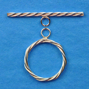 1/20 Silver-Filled Large 17mm Twisted Toggle Clasp