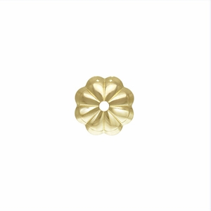 14k Gold Filled 1/20 6mm Flower Bead Cap qty12 USA closeout