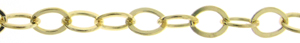 14k Gold Filled 5mm Flat Cable Chain, 5mm x 3.5mm, sold by the foot, ch057f