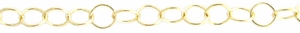 14k Gold-Filled Chain 312F - 3.5mm RoundCable, by the foot