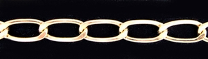 14k Gold Filled Heavy 7mm Curb Chain, by the foot,  737F