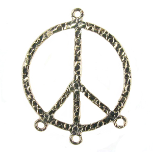 14k Gold-Filled Chandelier Earring Finding Peace Symbol, Hippie, Woodstock #60