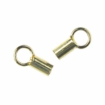 14k Gold-Filled Crimp End Caps 1x6mm (2pk) -- Perfect for Beading Chain!