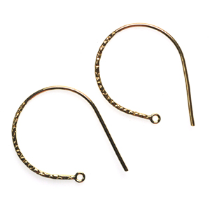 14k Gold-Filled Fancy Earwires 22 (1 pair) 27mm