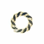 14k Gold-Filled  Flat Braided 10.5mm Closed Ring/Link