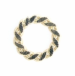 14k Gold-Filled  Flat Braided 12.5mm Closed Ring/Link