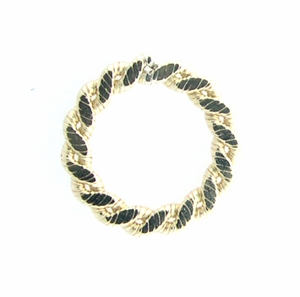 14k Gold-Filled  Flat Braided 14.5mm Closed Ring/Link