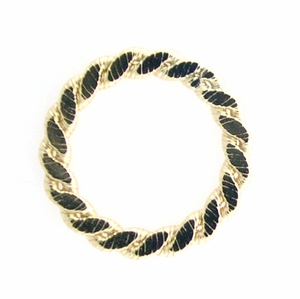 14k Gold-Filled  Flat Braided 16.5mm Closed Ring Findings Link