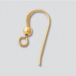 14k Gold-Filled  French Hook Earwires with Ball (10 pair)