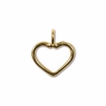 14k Gold-Filled Large Open Heart Charm