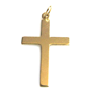 14k Gold-Filled Large Plain Cross Charm