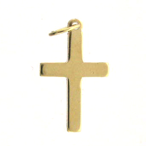 14k Gold-Filled Small Plain Cross Charm
