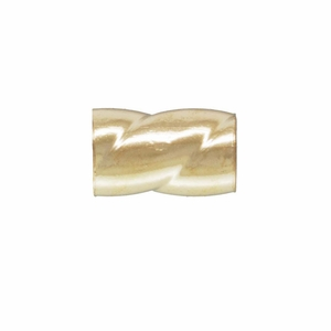 14k Gold-Filled Twisted Crimps, 3mm, Qty 25, USA