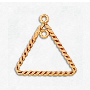 14kt Gold-Filled Earring Component 09 Triangle