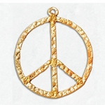 14kt Gold-Filled Large 21mm Peace Textured Charm