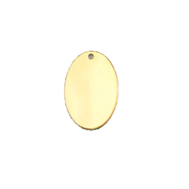 14kt Gold-Filled Oval 10x15mm Disc Charm - Engrave it!
