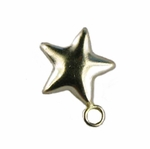 14kt Gold-Filled Puffed Star Charm