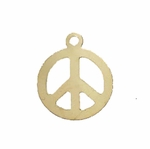 14kt Gold-Filled Round 11.5mm Peace Symbol Charm