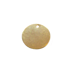 14kt Gold-Filled Round 11mm Disc Charm - Engrave it!