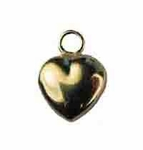14kt Gold-Filled Small Puffed Heart Charm 7mm