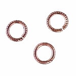 3D Snapeez II Ultraplate  8mm Jump Rings - Flamed Copper