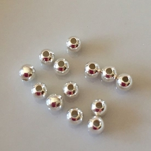 3mm Sterling  Silver Seamless Spacer Beads .9mm hole 100 pieces