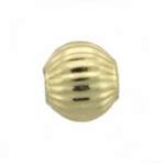 4mm 14k Gold Filled Corrugated Spacer Beads, 1.3mm hole, 10 pieces