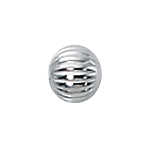 4mm Sterling Silver Corrugated Spacer Bead 1.8 mm hole 50 pieces