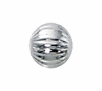 5mm Sterling Silver Corrugated Spacer Beads (25 pcs)