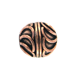AF Copper Bead 14 - 11mm, Antique Finish (10)