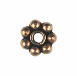 AF Copper Bead 17 - 6mm, Antique Finish (25)