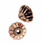 AF Copper Bead Cap 02 - 8mm, Antique Finish (12)
