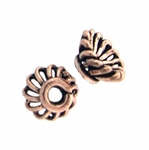 AF Copper Bead Cap 04 - 6.5mm, Antique Finish (12)