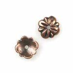 AF Copper Bead Cap 06 - 7.5mm, Antique Finish (12)