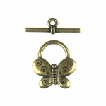 Antique Brass Butterfly Toggle