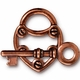 TierraCast Antique Copper Plated Lock & Key Toggle Set